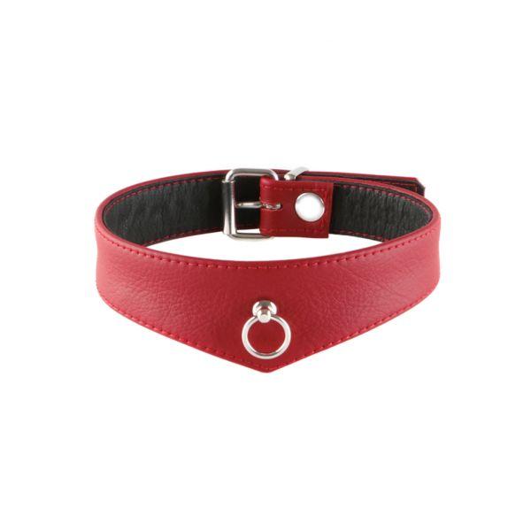 Lederhalsband Elegance Rot S