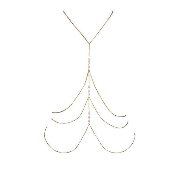 Körperkette mit Perlen